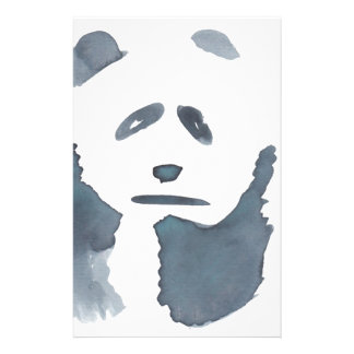 Black and White Panda Custom Stationery
