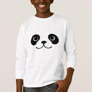 Black And White Panda Cute Animal Face Design T-Shirt