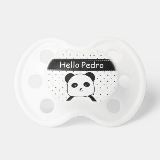 Black and White Panda Monochrome Baby Boy's Dummy