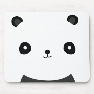 Black and White Panda Mouse Pad