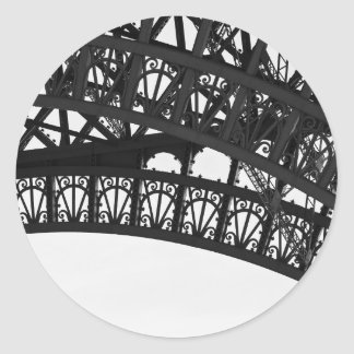 Black and White Paris Eiffel Tower Arch Sticker