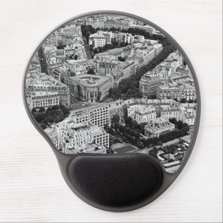 Black and White Paris France Aerial View Gel Mouse Pad