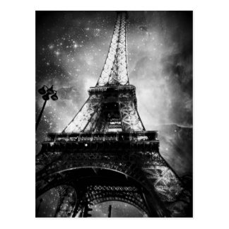 Black and White Paris Post Card, The Eiffel Tower Postcard