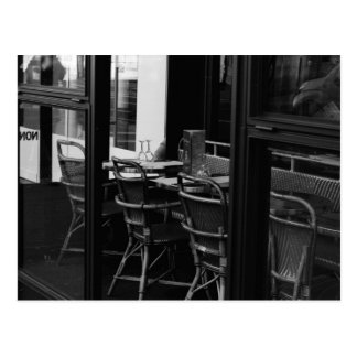 Black and White Parisian Diner Postcard