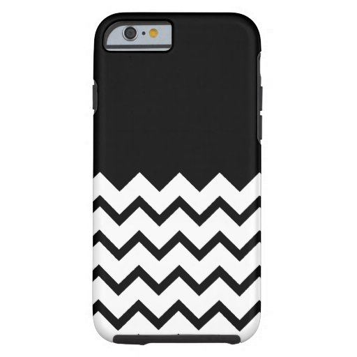 Black and White. Part Zig Zag, Part Plain Black. iPhone 6 Case