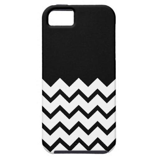 Black and White. Part Zig Zag, Part Plain Black. iPhone 5 Covers