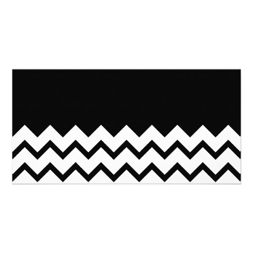 Black and White. Part Zig Zag, Part Plain Black. Photo Cards