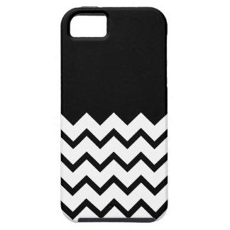 Black and White. Part Zig Zag, Part Plain Black. Tough iPhone 5 Case