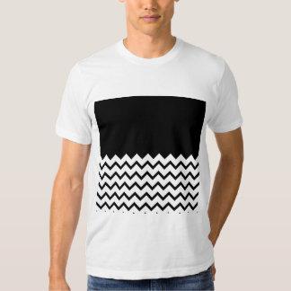 Black and White. Part Zig Zag, Part Plain Black. Tshirt