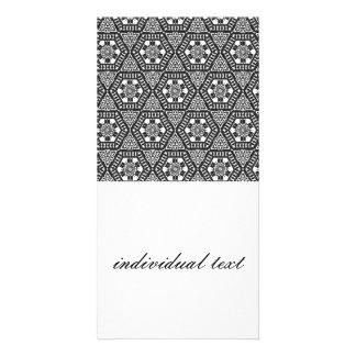 Black and White Pattern 03 Custom Photo Card