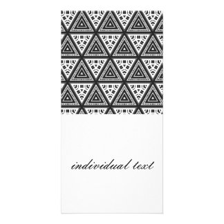 Black and White Pattern 04 Photo Card Template