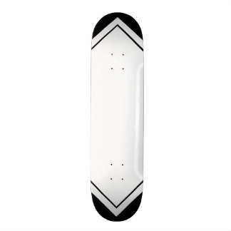 Black and White Pattern Customizable Deck 18.1 Cm Old School Skateboard Deck