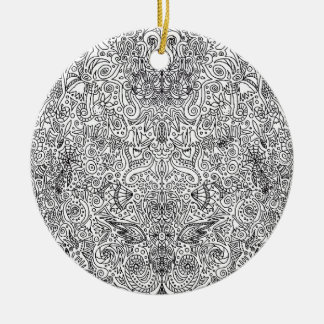 black and white pattern christmas tree ornaments