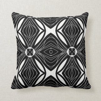 Black and White Pattern Design Cushion