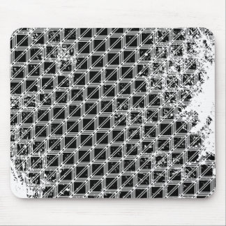 Black And White Pattern Distressed Mouse Pad