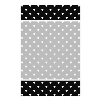 Black and White Pattern - Hearts. Custom 14 Cm X 21.5 Cm Flyer