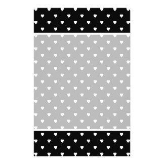 Black and White Pattern - Hearts. Custom 14 Cm X 21.5 Cm Flyer