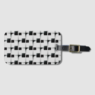 Black and white Pattern Luggage Tag