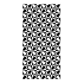 Black and white pattern photo card