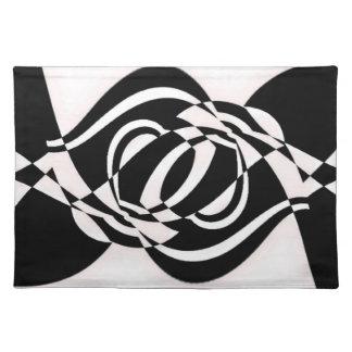 Black and white pattern place mats