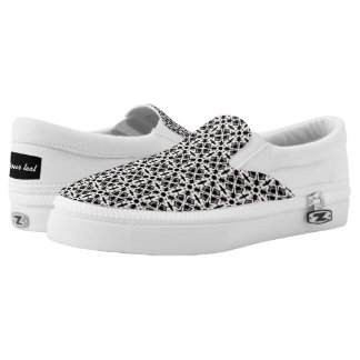 Black and white pattern printed shoes
