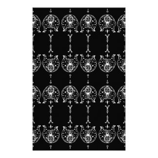 Black and White Pattern Stationery Design