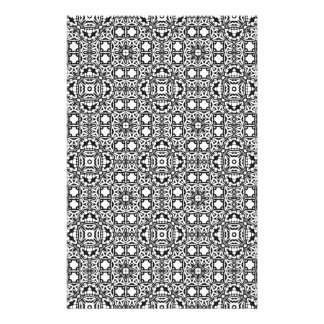 Black and White Pattern Templates Custom Stationery