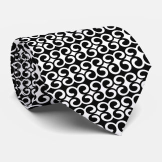 Black and White Pattern Tie