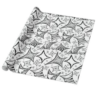 black-and-white pattern wrapping paper