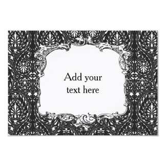 Black and White Patterned Card