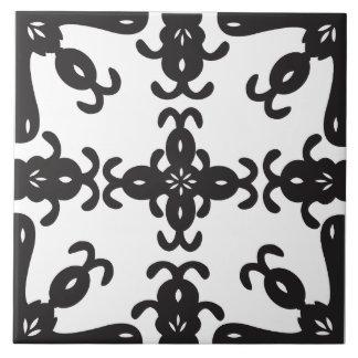 Black and White Patterned Kitchen / Bathroom Tile