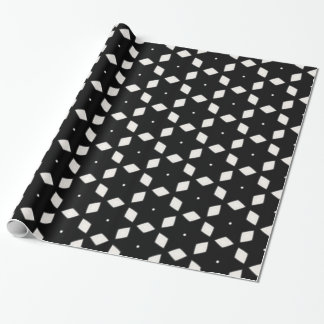 Black and White Patterns | Diamonds and Stars I Wrapping Paper