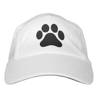 Black and White Paw Print Pattern Baseball Cap Hat