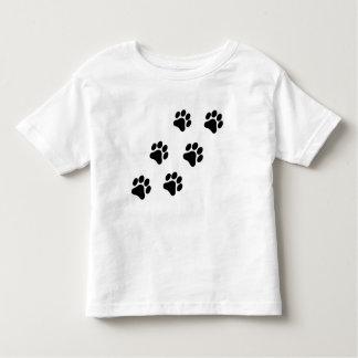 Black and White Paw Print Pattern Toddler T-Shirt