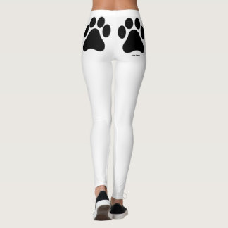 Black and White Paw Print Women's Leggings