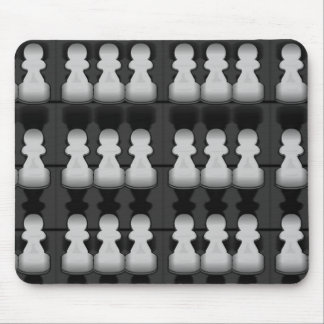 Black and white pawns - mouse mat