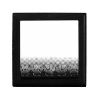 Black And White Paws Gradient Background Gift Box