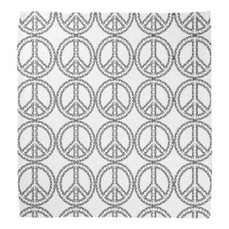 Black and White Peace Sign Bandanna