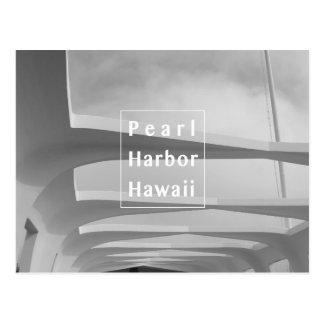 Black and white Pearl Harbor hawaii postcard