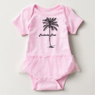 Black and White Pembroke Pines & Palm design Baby Bodysuit
