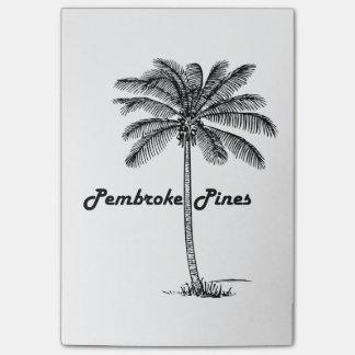 Black and White Pembroke Pines & Palm design Post-it® Notes