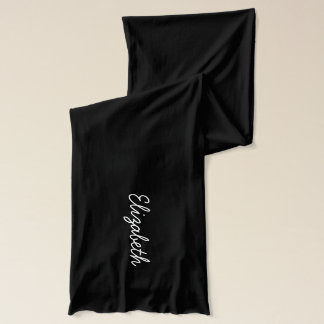 Black and White Personalized Monogram Scarf