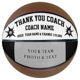 Black and White Photo Basketball Coach Gift Ideas