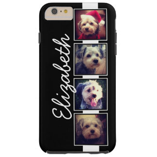 Black and White Photo Collage Squares Personalised Tough iPhone 6 Plus Case