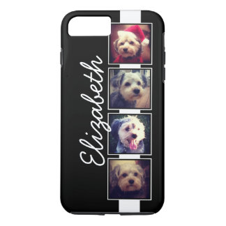 Black and White Photo Collage Squares Personalized iPhone 8 Plus/7 Plus Case