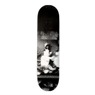 Black and white photo custom skateboard
