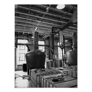 Black And White Photo Distillery Poster