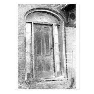 Black and white photo of doorway in N.H. 1970 Postcard