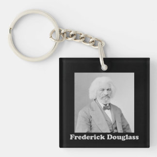 Black and White Photo of Frederick Douglass Key Ring