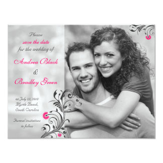 Black and White Photo Save the Date Card 11 Cm X 14 Cm Invitation Card